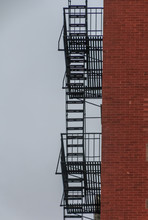 Fire Escape Silhouetted On The...