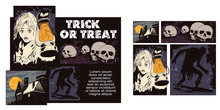 Collage On Theme Halloween.