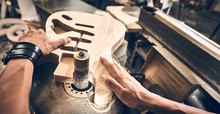 Manufacture Of Guitars Of The Brand Woodstock.