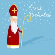 Cute Greeting Card With Saint ...