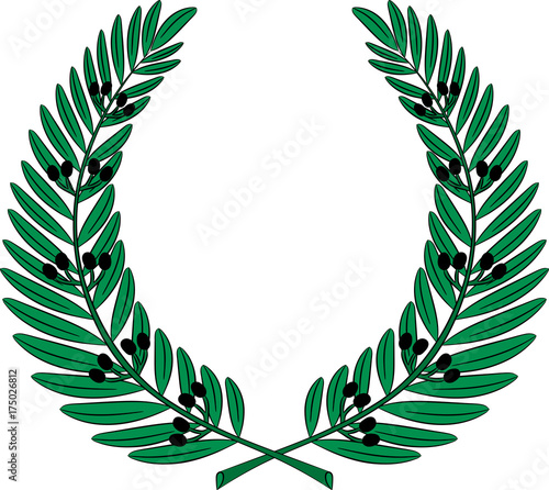 Olive Wreath Symbol Of Victory And Achievement Buy This Stock