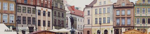 Plakat Panorama starego rynku poznańskiego
