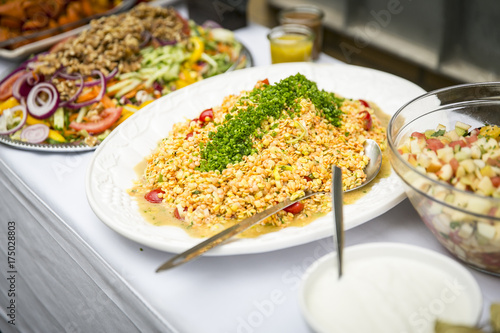Catering Salat Aus Roten Linsen Buy This Stock Photo And Explore