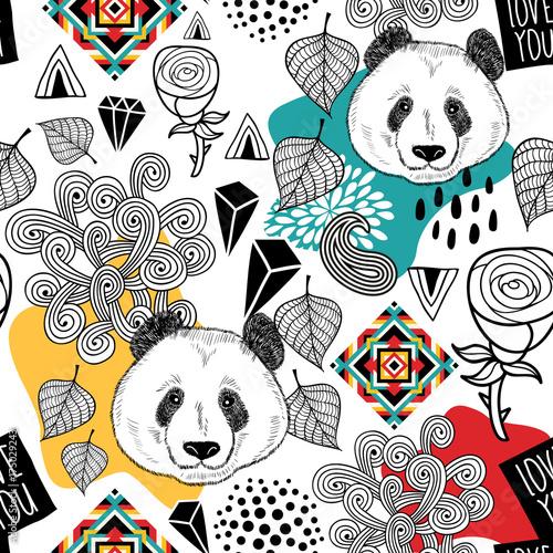 kolorowy-bezszwowy-wzor-z-slicznym-chinskim-niedzwiedziem-niekonczace-sie