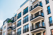 Leinwanddruck Bild - beautiful and clean apartment building