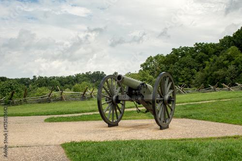 Fotografie, Obraz  Civil War Cannon
