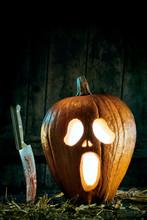 Halloween Concept Of Spooky Pu...