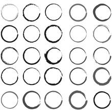 Set Of Grunge Circles For Web ...