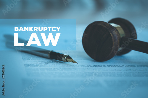 BANKRUPTCY LAW CONCEPT Wallpaper Mural