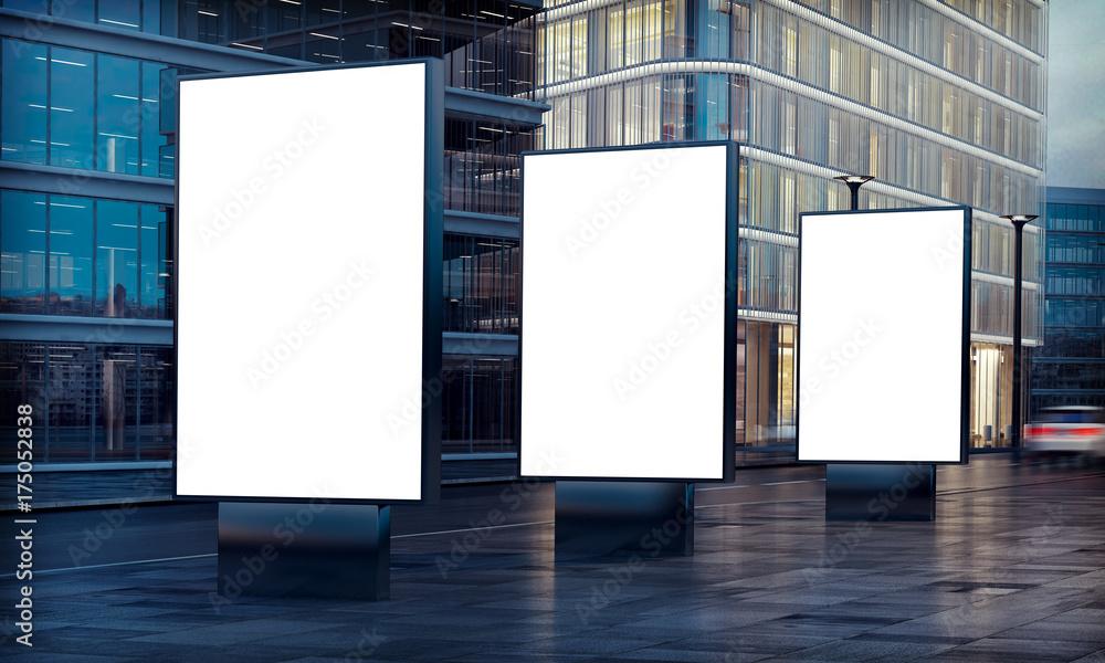 Fototapety, obrazy: three billboard advertising