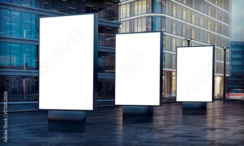 Obraz three billboard advertising - fototapety do salonu