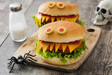 Halloween Burger Monsters On W...