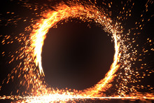 Abstract Fire Ring Of Fire Fla...