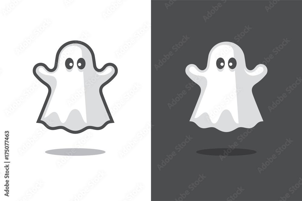 Fototapeta Cute ghost icon.