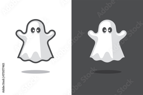 Photo  Cute ghost icon.