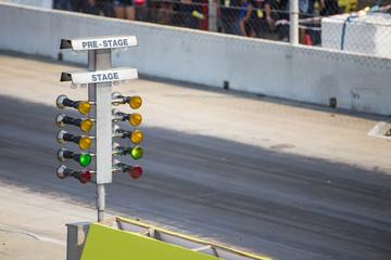drag racing stage lamp signal at quarter mile circuit