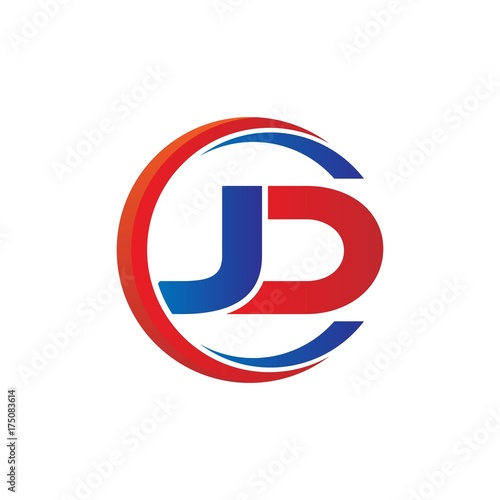 jd logo vector modern initial swoosh circle blue and red buy this stock vector and explore similar vectors at adobe stock adobe stock jd logo vector modern initial swoosh
