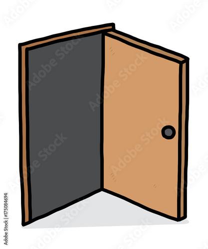 Tm Wohndesign: Open Door / Cartoon Vector And Illustration, Hand Drawn