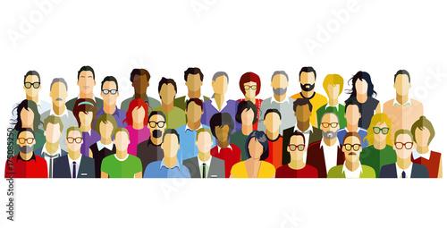 Photographie Menschen teilnehmer Gruppe Illustration