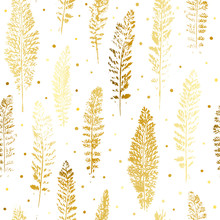 Seamless Pattern With Golden L...