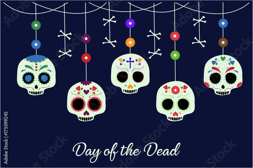 Day Of The Dead Card Or Background