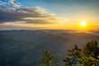Colorful summer sunrise in the Tara mountains