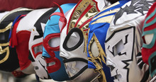A Line Of Lucha Libre Luchador Masks