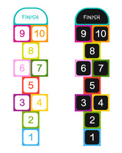 Hopscotch Game For Your Design