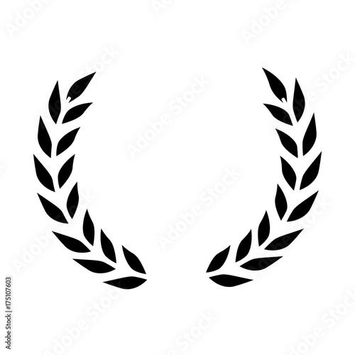 Fototapeta wreath leafs crown icon obraz