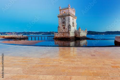 Plakat Lizbona. Wieża Belem.