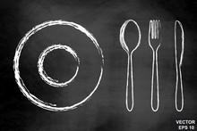 Cutlery, Spoon, Fork, Knife On...