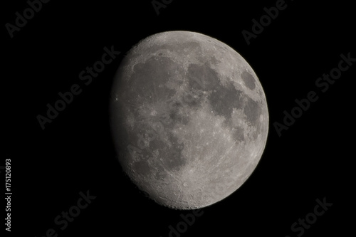 Three quarter moon Canvas Print