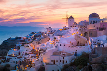 Lights Of Oia Village At Night...