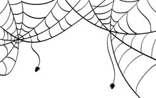 Spider Webs In The Top Corners...