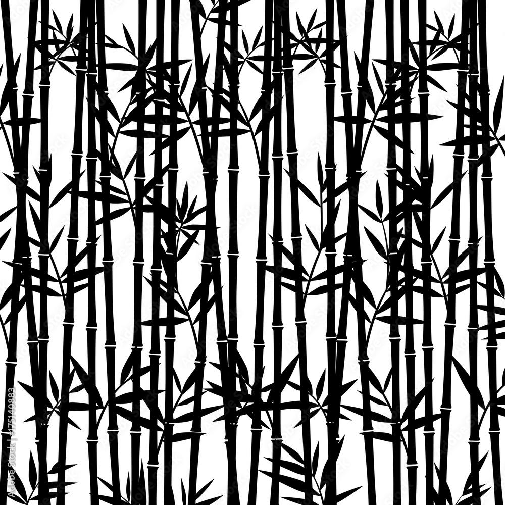 Bambusowy tło. Wektor