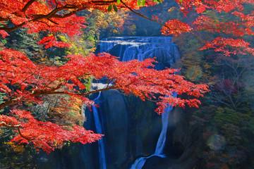 Obraz na Szkle 秋の袋田の滝(茨城県大子町)