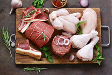 Raw Meat Assortment - Beef, La...