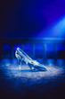 canvas print picture - 3D image of Cinderella's glass slipper on the floor