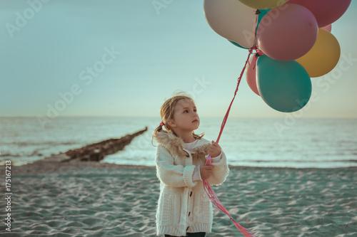 Plakat Kind am Strand