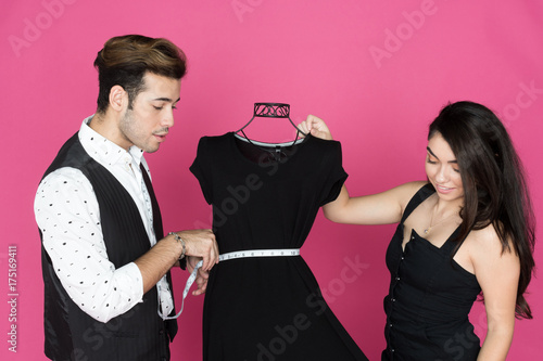 Fotografie, Obraz  Fashion Designer and Assistant