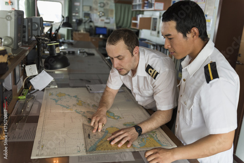 Senior Navigation Officer Training a Junior Officer
