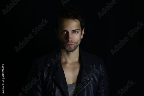 Handsome vampire posing before his transformation Fototapeta