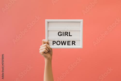 Cuadros en Lienzo  board with girl power lettering