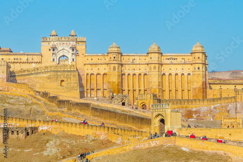 Photo sur Aluminium Fortification Amer Fort, Rajasthan