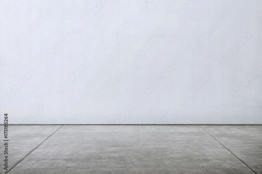 Fototapety, obrazy: Tiles marble floor with white wall