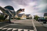 Dinosaure dans une ville