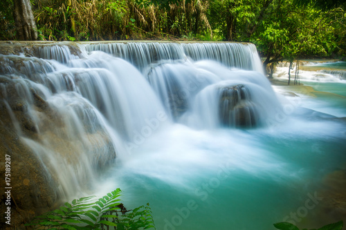 The Kuang Si waterfall in Luang Prabang, Laos