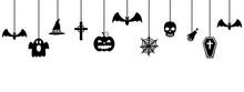Halloween Ornaments Hanging On...
