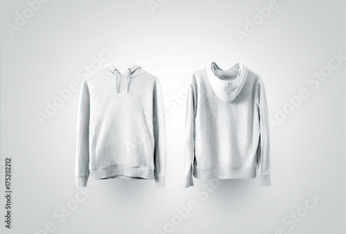f54b272b011d0 Blank white sweatshirt mockup set, front and back side view. Empty sweat  shirt mock