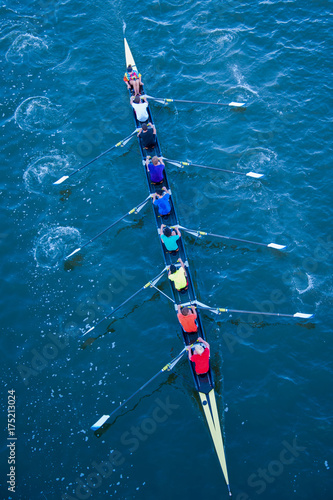 Fotografie, Obraz  Rowers in Rainbow Colors